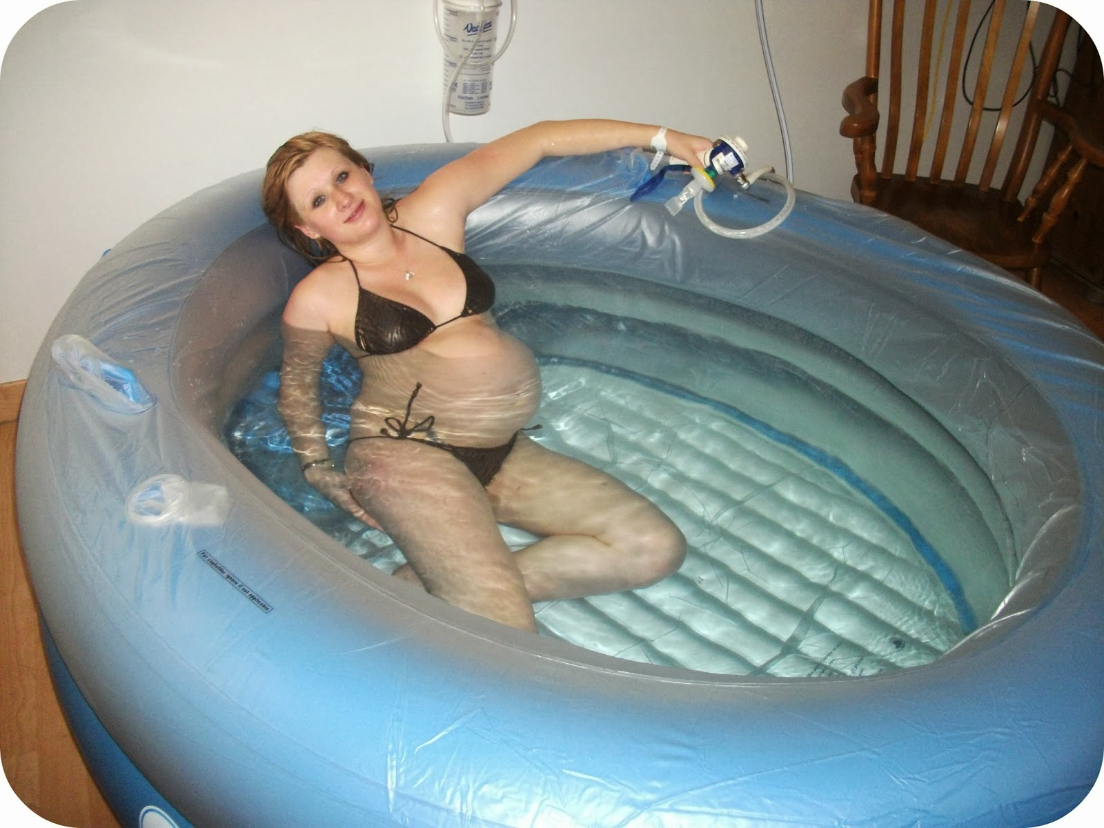 Water Birth in Inflatable Birthing Pool
