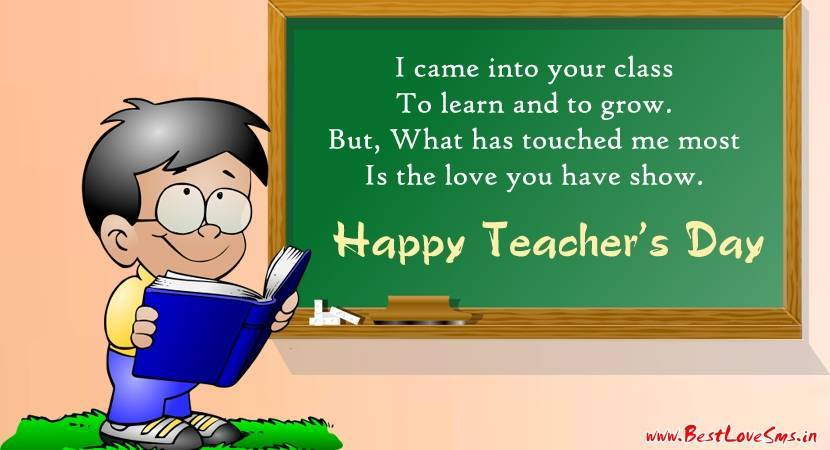 teacher s day poem Number one teacher poem (name of teacher), i'm happy that you're my teacher i enjoy each lesson you teach as my role model you inspire me to dream.