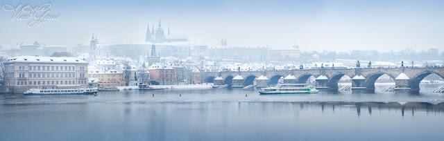 Прага зимой - панорама