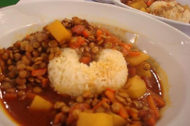 Lentejas al curry veganas