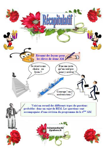 تحميل ملخصات اللغة الفرنسية للسنة الرابعة متوسط جاهزة للطباعة