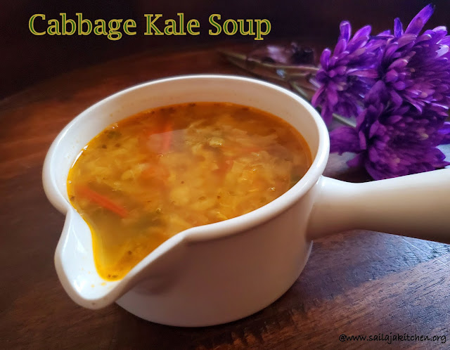 images of Cabbage Kale Soup / Cabbage Soup / Simple Cabbage Soup - Healthy Soup Recipes