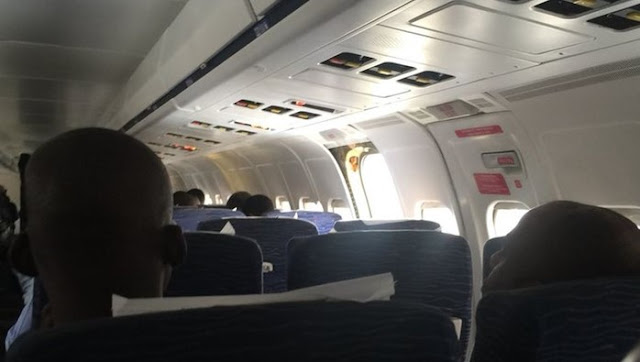 Confusion At Lagos Airport As Airline Says There's No Ladder For Passengers To come down