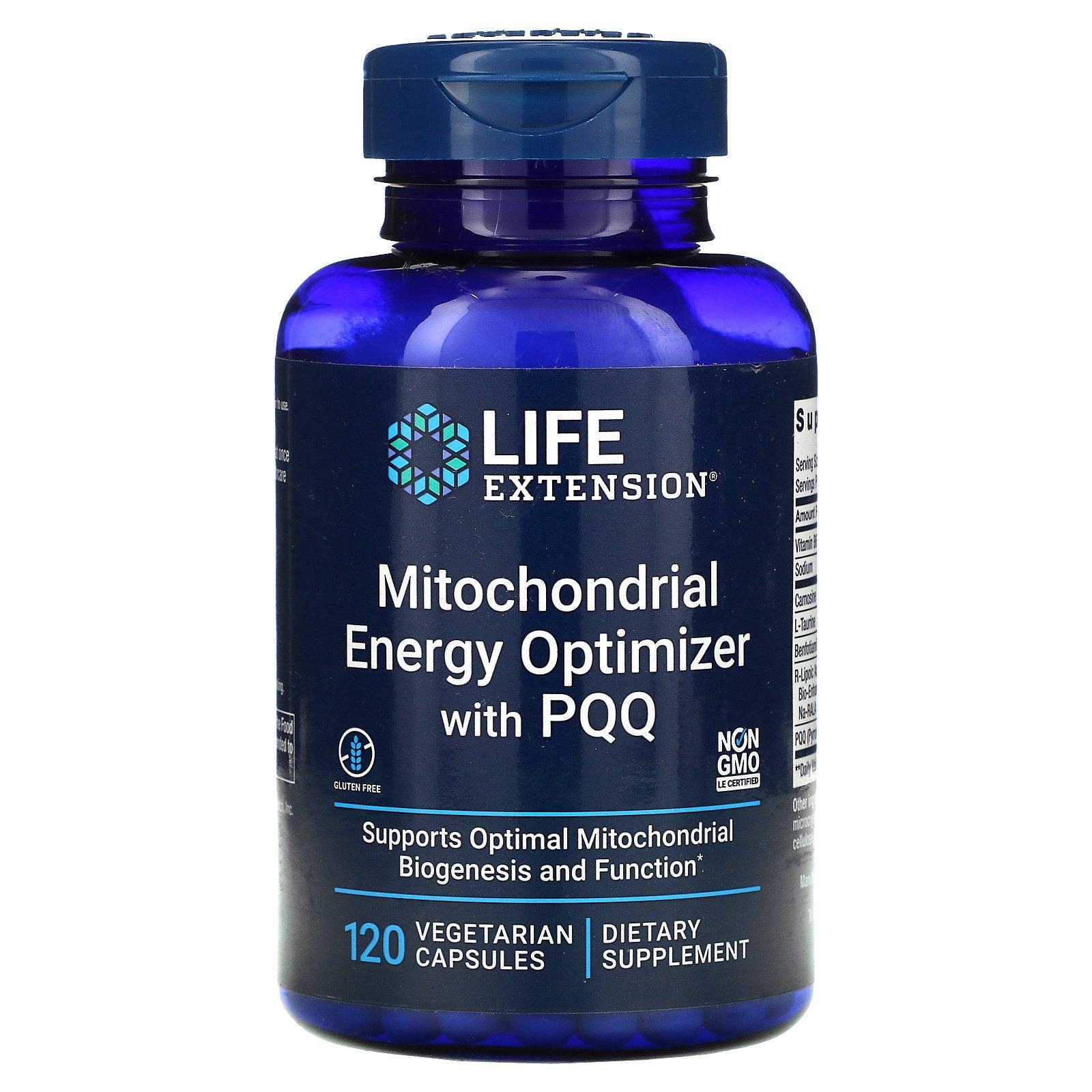 Life Extension, средство для оптимизации энергии митохондрий с PQQ, 120 вегетарианских капсул