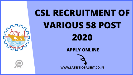 Cochin Shipyard Limited(CSL) Recruitment of Assistant and Fireman online form 2020|Apply online