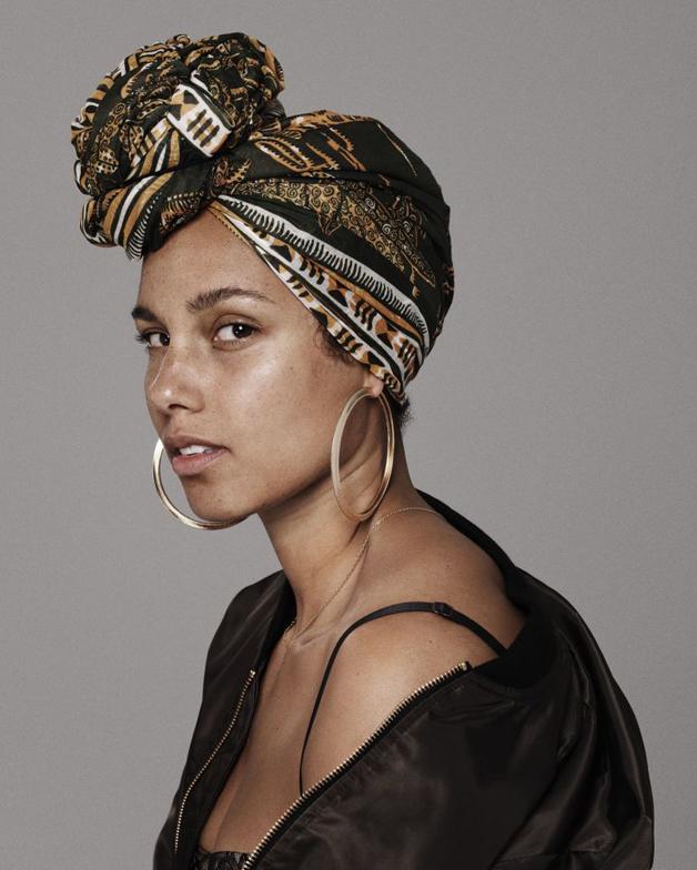 Alicia Keys sem maquilhagem
