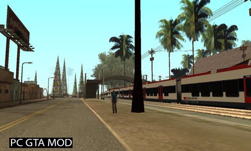 Free Download SeehasSBB Train Mod for GTA San Andreas.
