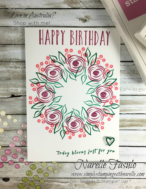 Perennial Birthday - A fabulous floral stamp set - get yours here - http://bit.ly/2Hk3vNe