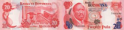 Botswana: Billete de 20 Pulas del año 2000