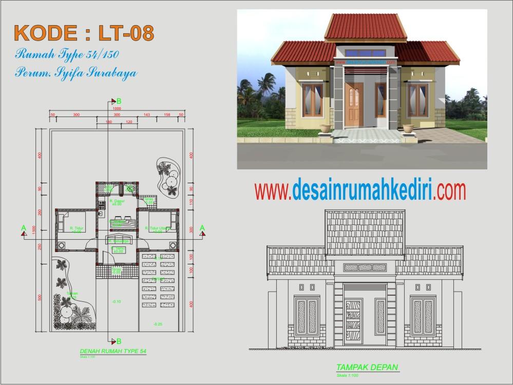 Lt1 08 Rumah Type 54 Bpk Sunyoto Surabaya Jasa Desain Dan