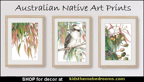 australian native art prints decorating australian theme australian themed bedroom decor