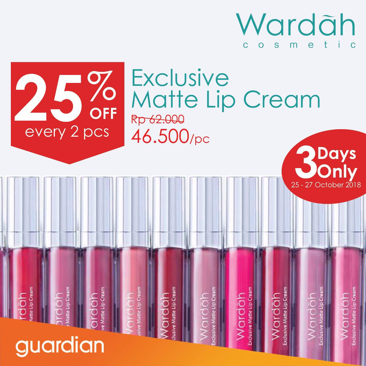 Guardian - Promo Diskon  25% Wardah Eye Xpert Series (s.d 27 Okt 2018)