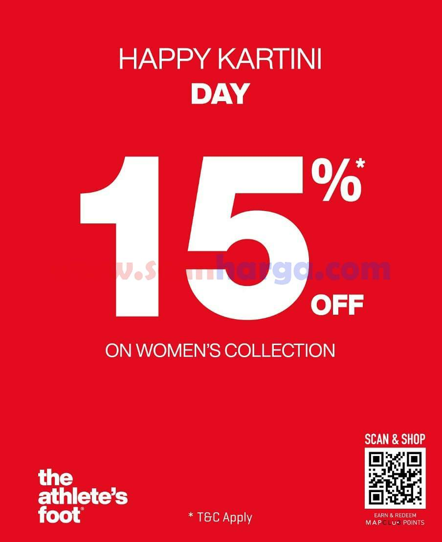 Promo The Athlete's Foot KARTINI DAY SPECIALS DISKON 15%