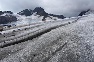 Glacier de Saint Sorlin et ses crevasses