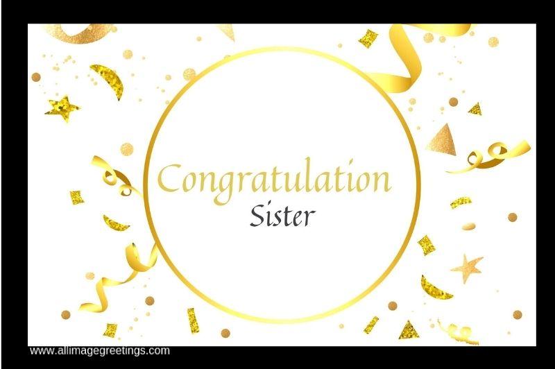 Congratulation sister