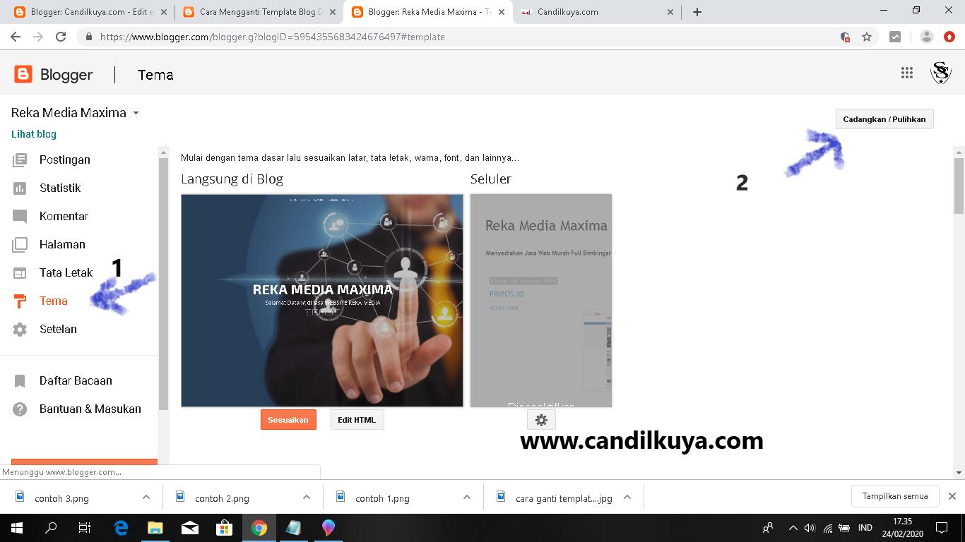 Bagaimana Cara Mengganti Template Blogger Hasil Download