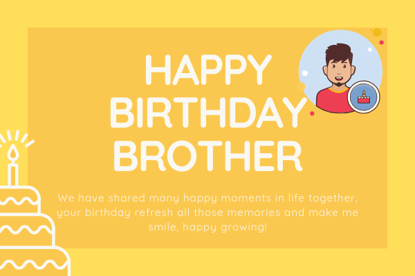Brother Happy Birthday Images with Wishes - ImagesHappyBirthday.com