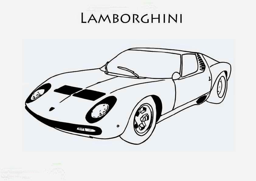Coloriage De Voiture De Lamborghini