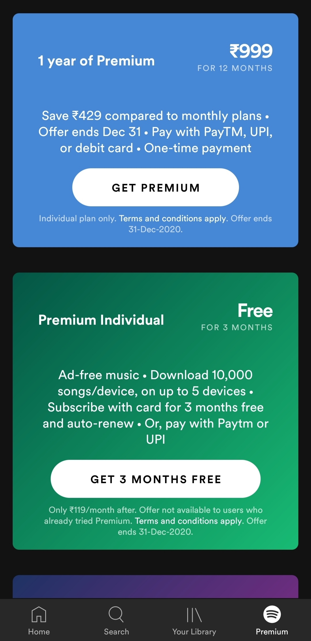 How to get Spotify premium for 3 months Free ?