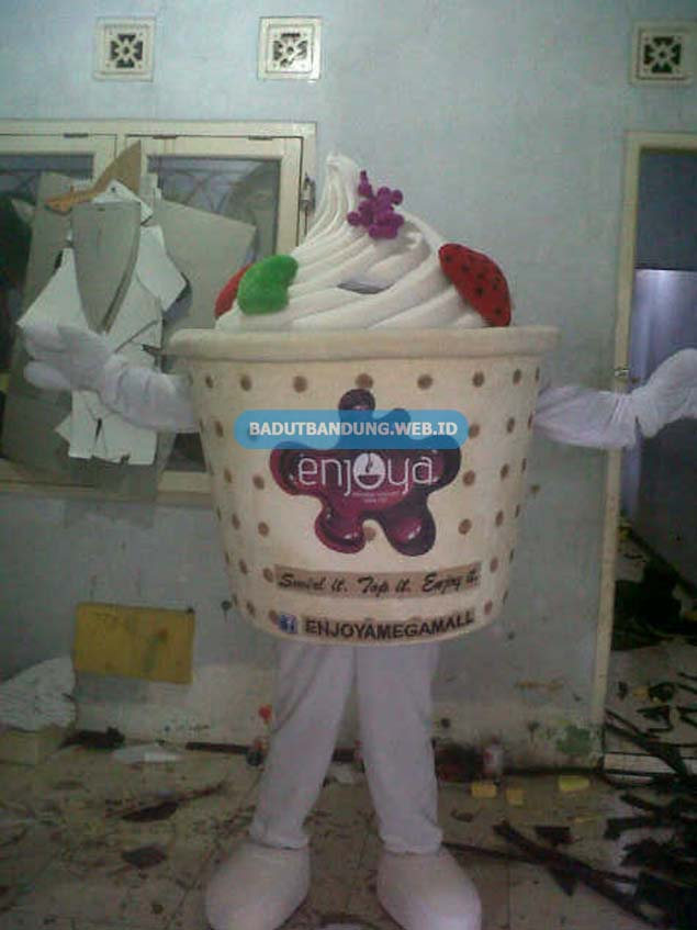Badut Ice Cream Maskot Enjoya