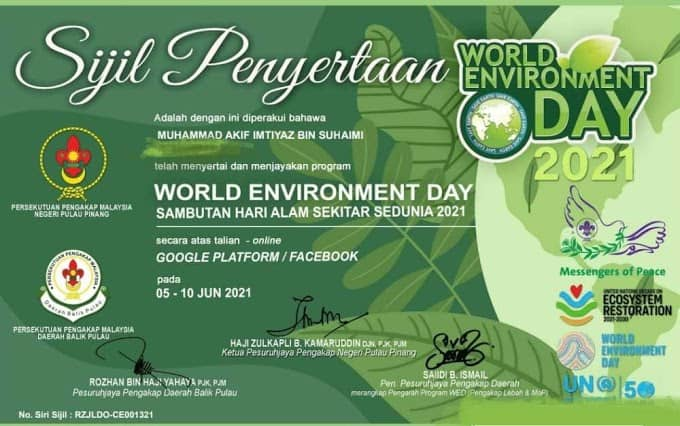 Jawap Kuiz Online Sempena Hari Alam Sekitar 2021