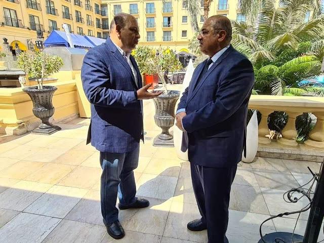 رئيس الاتحاد الإفريقي للكونغ فو يبحث مع هشام حطب سبل تعزيز التعاون المشترك
