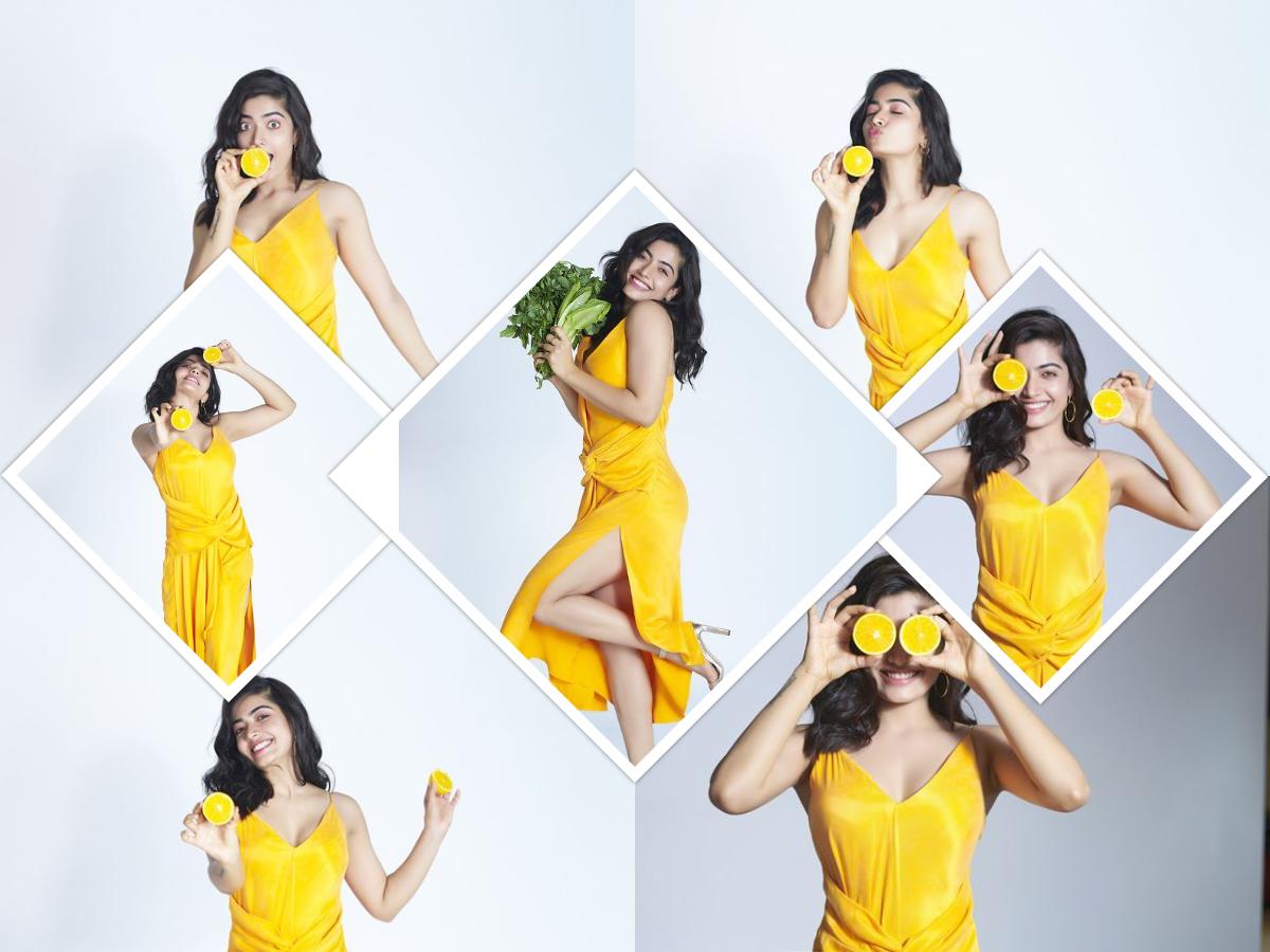 Actors Gallery; Rashmika Mandanna Yellow Dress Photoshoot Clicks