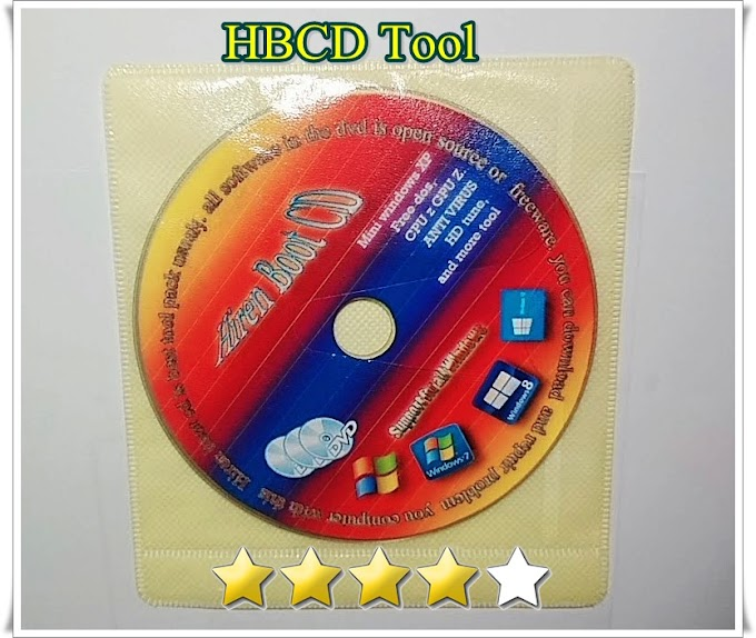 DVD HBCD hirent boot cd mini wind xp dan berbagai tool utk service komputer laptop