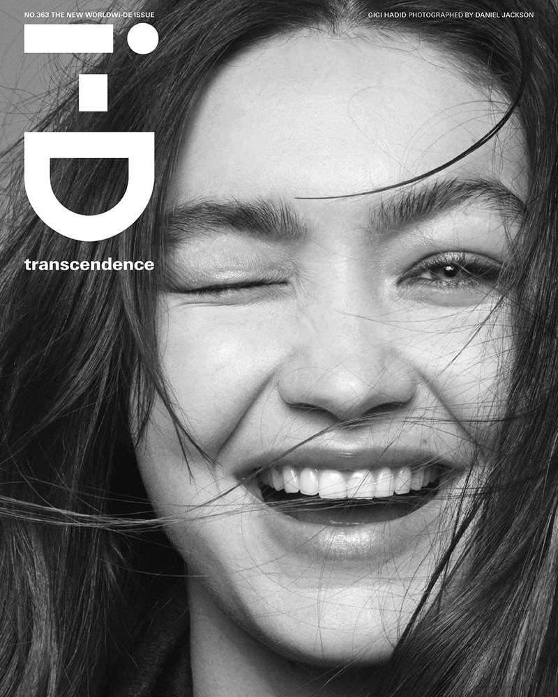 Gigi Hadid poses in monochrome for i-D Summer 2021 issue