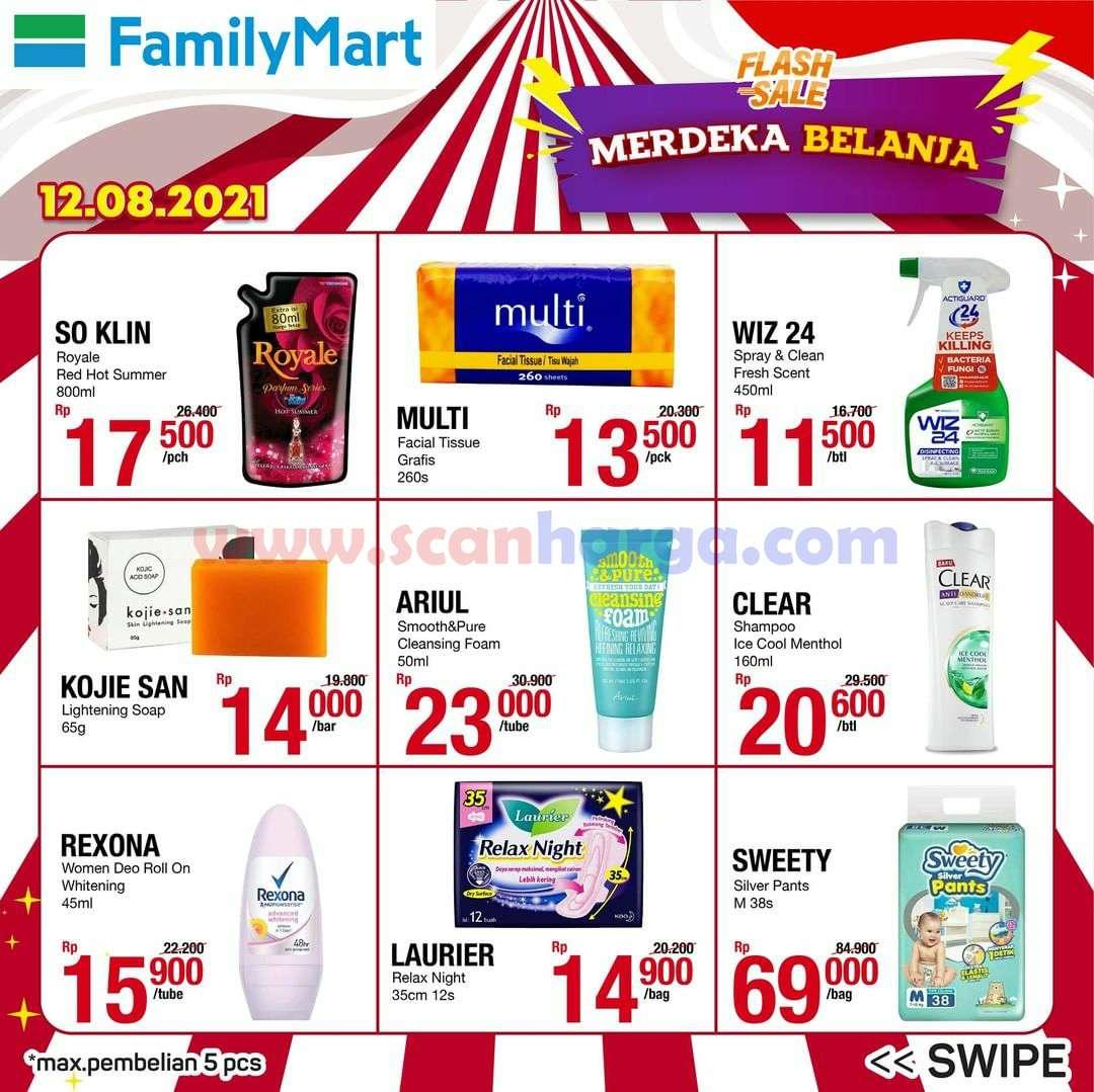 Promo FAMILYMART Flash Sale Merdeka Belanja Spesial *12.08.21 4