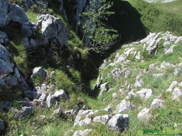 Canal de bajada por la cara norte de la Sierra de Brañapiñueli