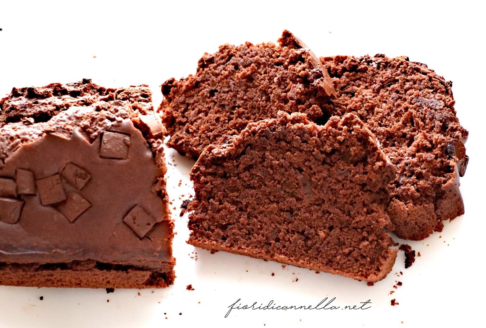 abbastanza Plumcake vegano al cacao con gocce di cioccolato ~ Fiori di cannella DW01