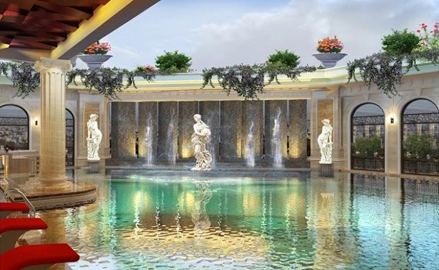 Bể bơi ngoài trời chung cư D'. Le Roi Soleil
