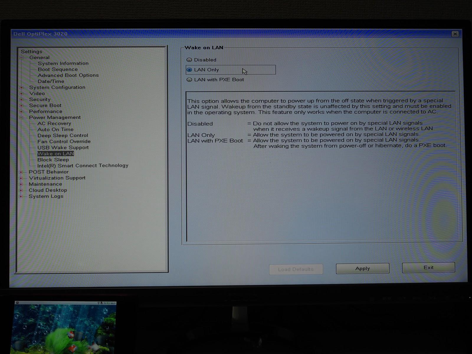 WM×LI: Wake On LAN を使って Optiplex 3020 を起動する.
