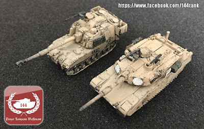 1/144 M1A2 & M109A6 from 1/144 Tank