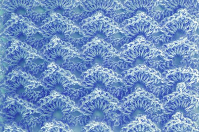 6-Crochet Imagen Puntada abanico a relieve a crochet y ganchillo por Majovel Crochet