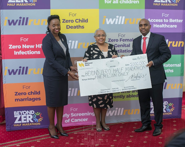 National Bank Donated kes5M to Beyond zero campaign