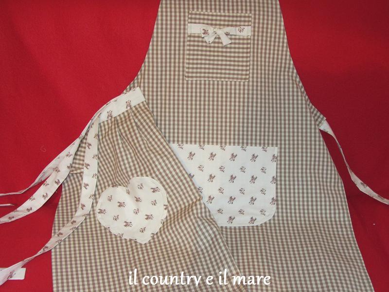 Il country e il mare roselline e quadretti per i grembiuli - Grembiuli da cucina fai da te ...
