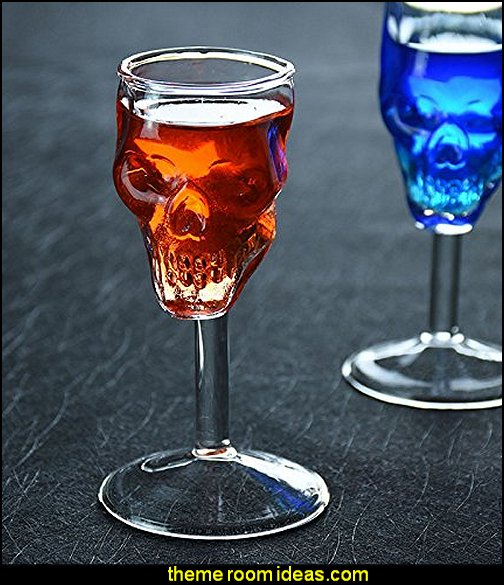 Skull Head Wine Goblets Glass Cup for Vodka Whiskey Cocktail Barware Home Drinking Ware