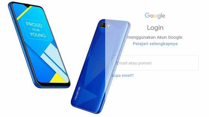 Menambah akun gmail di Realme C2