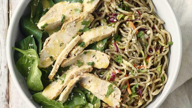new chicken soba noodle salad with peanut sauce soba noodles