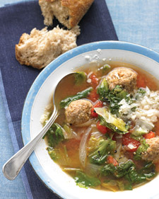 This Light Take On Italian Wedding Soup Is Courtesy Of Everyday Foods Magazine It Would Be A Great To Make Weekend Day And Then For The