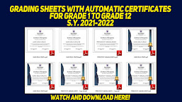GRADING SHEETS WITH AUTOMATIC CERTIFICATES-FREE TO DOWNLOAD