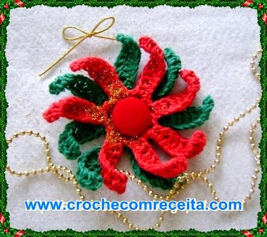 Flores em Crochê para o Natal Video Aula Passo a Passo Aprender Croche com Edinir Croche Curso