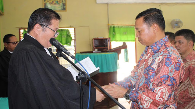 Kapolres Segai AKBP Robin Simatpang. SH. M. Hum, Dilantik Jadi Ketua Umun Pembangunan Gereja Oleh Pareses HKBP