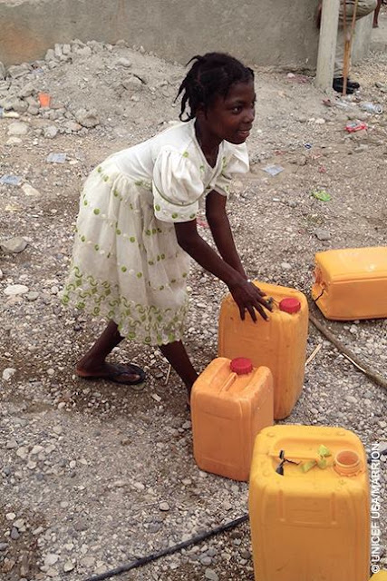 Water is life,UNICEF Haiti's emergency team