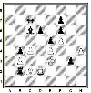 Posición de la partida de ajedrez Jan Timman - Valery Salov (Amsterdam VSB, 1991)