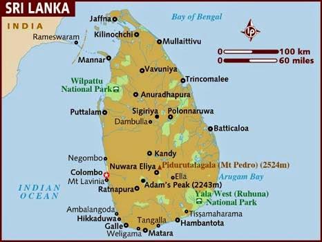 Peta Negara Sri Lanka