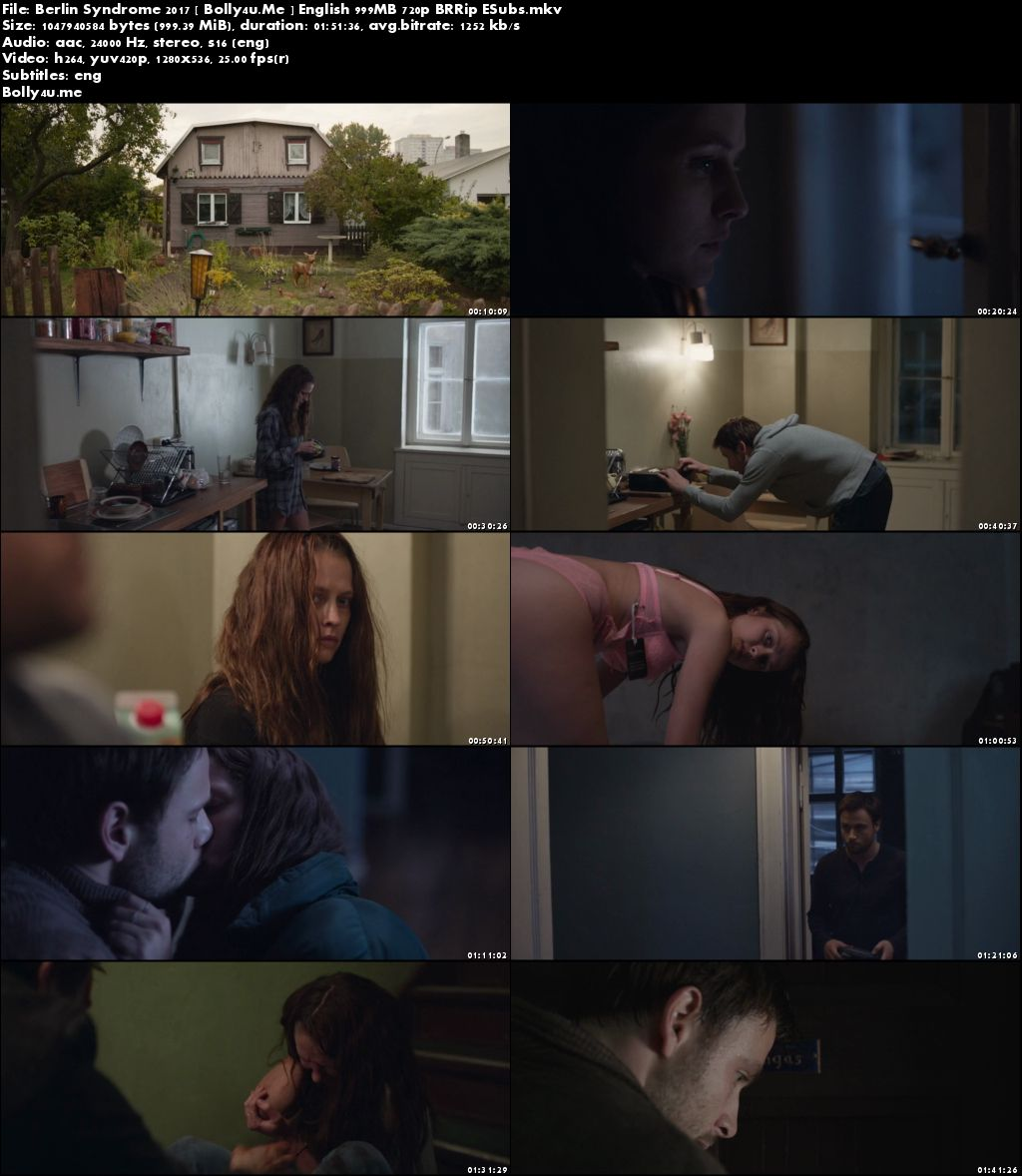Berlin Syndrome 2017 BluRay 350Mb English 480p Download
