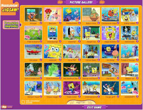 Nickelodeon jigsaw puzzle free download game